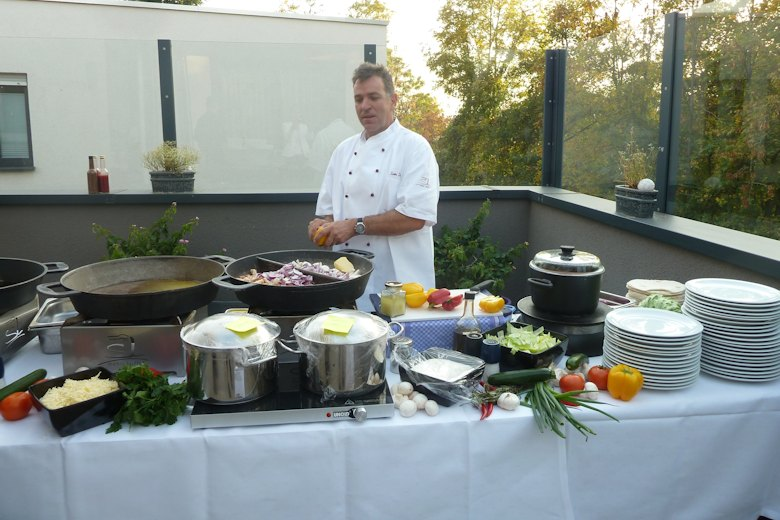 Live Caterer Gerhard Ludwig in Aktion